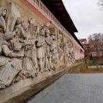 Донской монастырь Горельефы взорванного храма Христа Спасителя